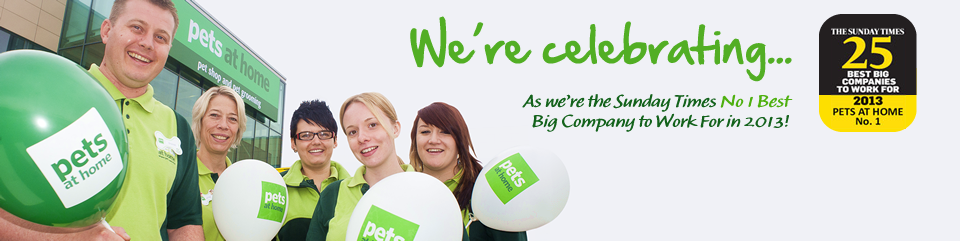 We're Celebrating - As we're the Sunday Times No1 Best big company to work for in 2013!