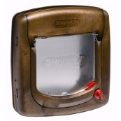 Wood Effect 4 Way Manual Locking Cat Flap 320