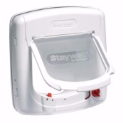 White 4 Way Infra-Red Locking Cat Flap 500