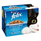 Felix Adult Pouch Fish Select Cat Food 100gm 12 Pack