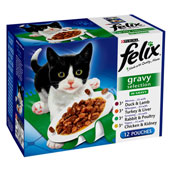 Felix Adult Pouch Gravy Select Cat Food 100gm 12 Pack