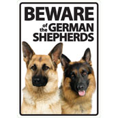 Beware of the German Shepherds