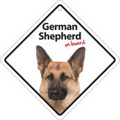 German Shepherd On Board