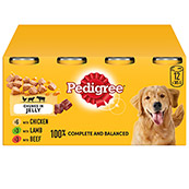 Pedigree Adult Dog Food Chunks in Jelly 385gm 12 Pack