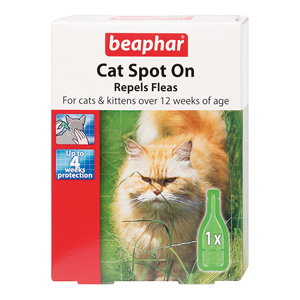 Cat Spot On Flea Repellent Drops 4 Weeks
