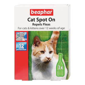Cat Spot On Flea Repellent Drops 12 Weeks