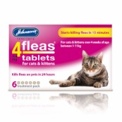 Johnson's 4Fleas Cat Tablets 6 Pack
