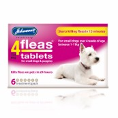 Johnson's 4Fleas for Puppies and Small Dogs 6 Pack Tablets