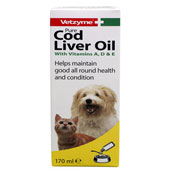 Pure Cod Liver Oil 170ml by Vetzyme