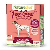 Naturediet Adult Sensitive Dog Food with Salmon, Prawn, Vegetables & Rice 390gm
