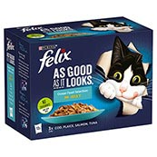 Felix As Good As It Looks Adult Cat Food with Ocean Fish 100gm 12 Pack