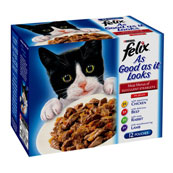Felix As Good As It Looks Adult Cat Food with Meat Select 100gm 12 Pack