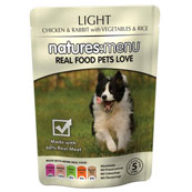 Natures Menu Adult Light Dog Food with Chicken, Rabbit, Vegetables & Rice 300gm