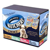 Butchers Adult Foil Tray Dog Food Mixed Variety 150gm 12 Pack
