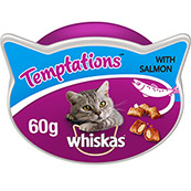 Whiskas Temptations Cat Treats with Salmon 60gm