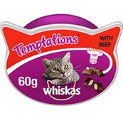 Whiskas Temptations Cat Treats with Beef 60gm