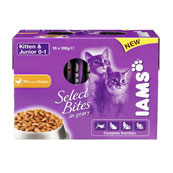 Iams Pouch Kitten Food with Chicken in Gravy 100gm 10 Pack