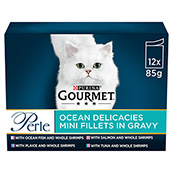 Gourmet Perle Adult Cat Food Ocean Delicacies 85gm 12 Pack
