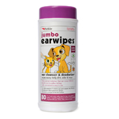 Jumbo Ear Wipes 80 Wipe Tub