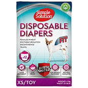 Simple Solution Disposable Dog Diapers Extra Small (Online Only)