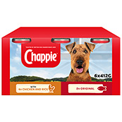 Chappie Adult Dog Food Tins 412gm 6 Pack