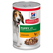 Hills Science Plan Puppy Food Tins with Savoury Chicken 370gm