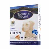 Natures Harvest Adult Complete Dog Food with Chicken & Rice 395gm