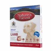 Natures Harvest Adult Complete Dog Food with Lamb & Rice 395gm