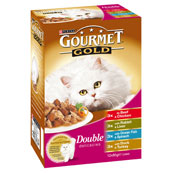 Gourmet Gold Double Delicacies Cat Food Mixed Variety 12 x 85g