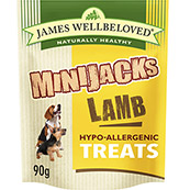 James Wellbeloved Mini-Jacks with Lamb Dog Treats 90gm