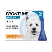 Frontline Spot On Flea Drops for Small Dogs and Puppies (2-10kg) 3 x 0.67ml