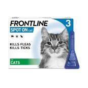 Frontline Spot On Flea Drops for Cats and Kittens 3 x 0.5ml