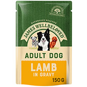 James Wellbeloved Adult Dog Food Pouches with Lamb & Rice 150gm