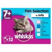 Whiskas Senior Pouch Fish Selection in Jelly 100gm 12 Pack
