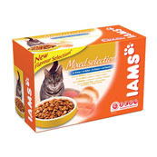 Iams Pouch Adult Cat Food Mixed Selection in Gravy 100gm 12 Pack