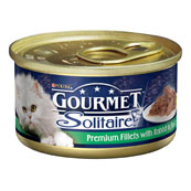 Gourmet Solitaire Cat Food with Rabbit 85g Tin