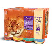 Classic Meat in Jelly Cat Food Tins 400gm 24 Pack