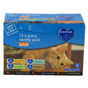 Pets at Home Adult Mixed Selection in Gravy Cat Food 100gm 12 Pack