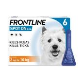 Frontline Spot On Flea Drops for Small Dogs and Puppies (2-10kg) 6 x 0.67ml
