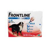 Frontline Spot On Flea Drops for Extra Large Breed Dogs and Puppies (40-60kg) 6 x 4.02ml