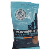 Wainwright's Wholesome Bites Dog Treats with Salmon and Rice 150gm