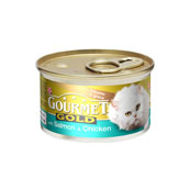 Gourmet Gold Cat Food with Salmon and Chicken in Gravy 85g