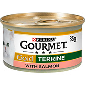Gourmet Gold Cat Food Salmon Terrine 85g