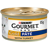 Gourmet Gold Cat Food with Turkey in Pate 85g