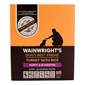 Wainwright's Puppy Tray Dog Food with Turkey & Rice 395gm