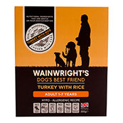 Wainwright's Adult Tray Dog Food with Turkey & Rice 395gm