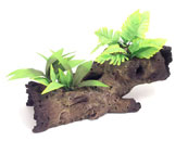 Decorative Wood with Plant Aquarium Ornament
