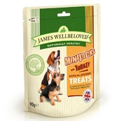 James Wellbeloved Mini-Jacks with Turkey Dog Treats 90gm