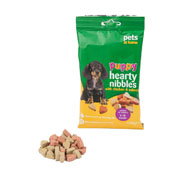 Hearty Nibbles Puppy Treat with Salmon and Chicken 120gm