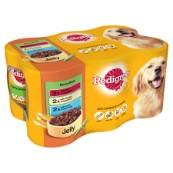 Pedigree Meaty Meals in Jelly Adult Dog Food Tins 400gm 6 Pack